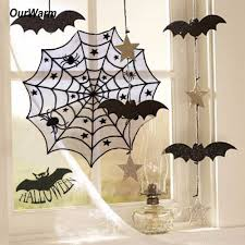 halloween background black spider web aliexpress com buy ourwarm 40inch round halloween tablecloth