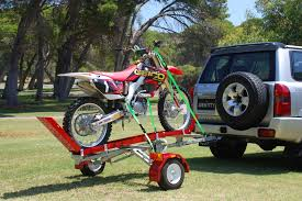 Seeking Trailer Fr A View Of The Single Track Bulldog Folding Motorcycle Trailer