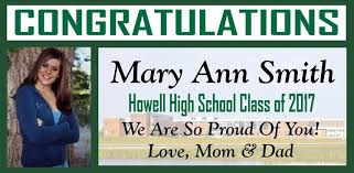 high school senior banners howell high school graduation banners