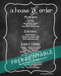 printable evening schedule free printable chore charts for kids and adults the creative mom