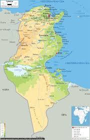 The Sahel Map Physical Map Of Tunisia Ezilon Maps