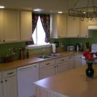 Rustic White Kitchen Cabinets - high curved distressed white kitchen cabinets with dark glass