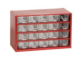 Hardware Storage Cabinet Johnssteel Model 522 20 Drawer Plastic Parts Type A Steel Metal