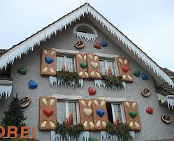 local swiss bakeries decorates their facades to look like a