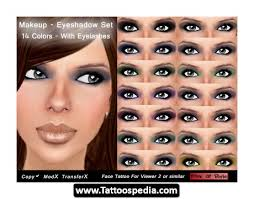 tattooed eye makeup cat eye makeup