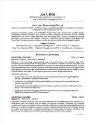 Best Engineering Resumes by Industrial Engineer Sample Resume Gallery Creawizard Com