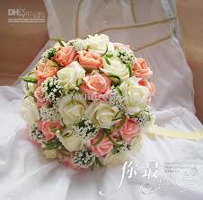 silk flower bouquets wedding favors wedding bouquet sweetheart roses silk