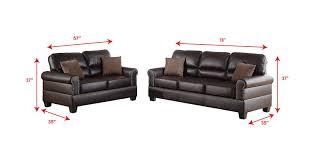 living room sets amazon com poundex f7878 bobkona shelton bonded leather 2 piece sofa and loveseat set espresso