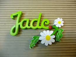 pr駭om bois porte chambre prénoms décoratifs lettres en bois peint attachées plaque de porte