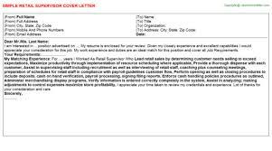 Sample Resume For Warehouse Supervisor Distribution Supervisor Cover Letter