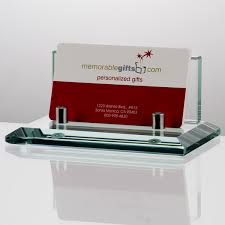 jade glass business card holder for doctors