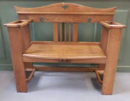 Antique Hall Bench Blog Arts U0026 Crafts Hall Bench Scottish Antique U0026 Arts Centre