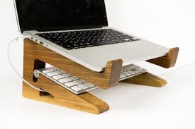 Laptop Riser For Desk Portable Wood Laptop Stand Wooden Laptop Riser Macbook