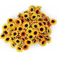 Artificial Sunflowers Amazon Com 100pcs Artificial Flowers Wholesale Fake Flowers Heads
