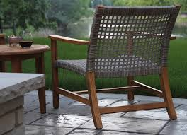 Wooden Outdoor Lounge Chairs Wicker U0026 Natural Teak Outdoor Lounge Chair 2 Pk