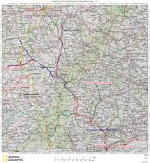 Eastern Tennessee Map by Historic Roads Paths Trails West Virginia Tennessee Kentucky