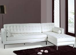 saving small spaces living room design with white leather tufted
