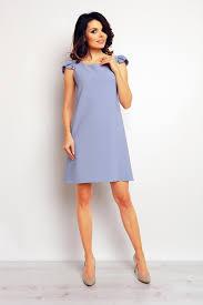 light blue shift dress light blue shift dress with ruffled cap sleeves