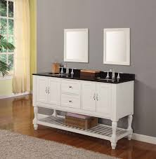 white bathroom vanity black countertop traditional bathroom