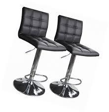 Adjustable Bar Stool With Back Modern Square Leather Adjustable Bar Stools With Back Set Of 2