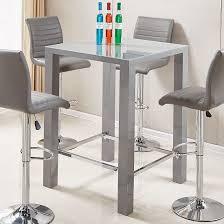 square glass pub table jam modern glass bar table square in grey high gloss dining room