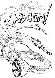 wheels kaboom coloring page free printable coloring pages
