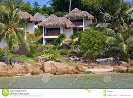 tropical beach house thailand stock photos image 33685883