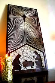 christmas manger scene manger scene string art nativity