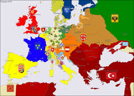 Map Of Europe 1648 by Europe 1618 By Hillfighter On Deviantart