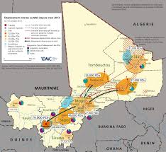 Mali Africa Map by Idmc Internal Displacement In Mali Since March 2013