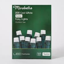 Outdoor Fairy Lights Australia by Mirabella Christmas 200 Led Solar Fairy Lights Cool White