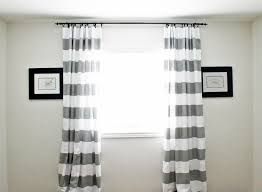 Grey White Striped Curtains Gray Striped Curtains Eye Glass Beautified Then Wooden