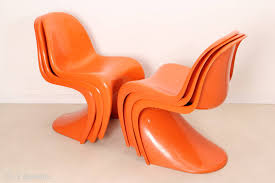 6 panton chairs by verner panton edited by herman miller in 1960