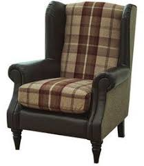 Armchair Uk Sale Chesterfield Queen Anne High Back Wing Chair In Vintage Grey