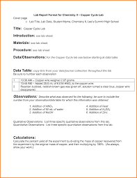 formal lab report template gallery of 10 formal lab report format high school financial