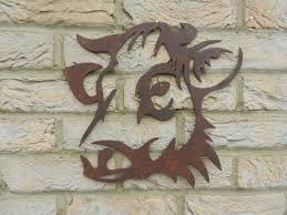 cow head cow garden art rusty metal art garden decoration