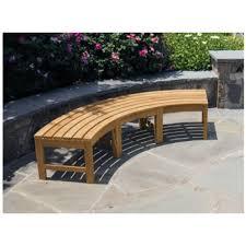 Teak Garden Benches Backless Garden Bench Fsc Certified Teak Curved Backless Garden
