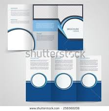 free tri fold brochure vector template download free vector art
