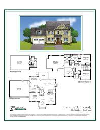 floor plans for two story homes gardenbrook two story craftsman