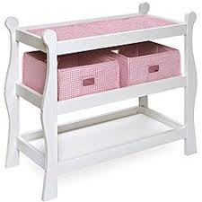 Changing Table Accessories Badger Basket Sleigh Style Doll Changing Table Overstock