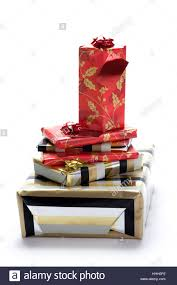 wrapped christmas boxes box boxes wrapped christmas presents x tower stock