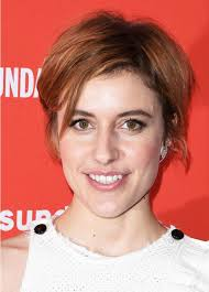 shortest hairstyle ever greta gerwig s secret to styling short hair instyle com