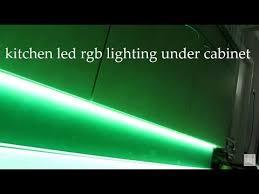 led strip rgb lights under cabinet led kitchen lighting idea ไฟ