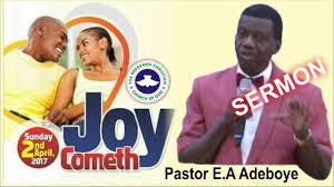 pastor e a adeboye sermon rccg april 2017 thanksgiving service