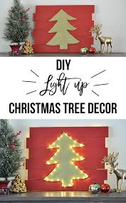 diy christmas decorations diy christmas wall decor idea light up tree anika u0027s diy life