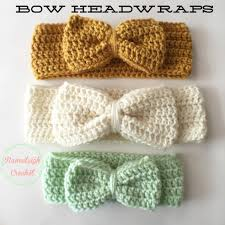 crochet headbands for babies crochet bow headwrap free pattern crotchet to do projects