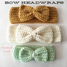 baby crochet headbands crochet bow headwrap free pattern crotchet to do projects