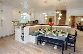 built in dining table how a kitchen table with bench seating can totally complete your home