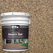 Sandpaper For Concrete Floor by Behr Premium 5 Gal Gg 13 Pebble Sunstone Decorative Concrete