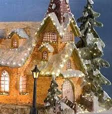 konstsmide 3338 000 fibre optic church christmas decoration